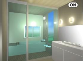 透明時には開放感のある空間
