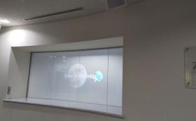液晶フィルムはカーブ面や既設ガラスへの後貼りも可能